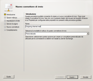 Connettore invio mail exchange 2010